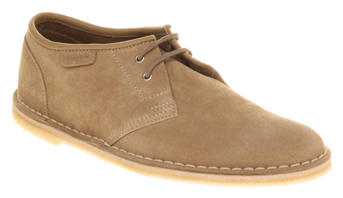 Mens-Clarks-Jink-Lace-Shoe-Sand-Suede