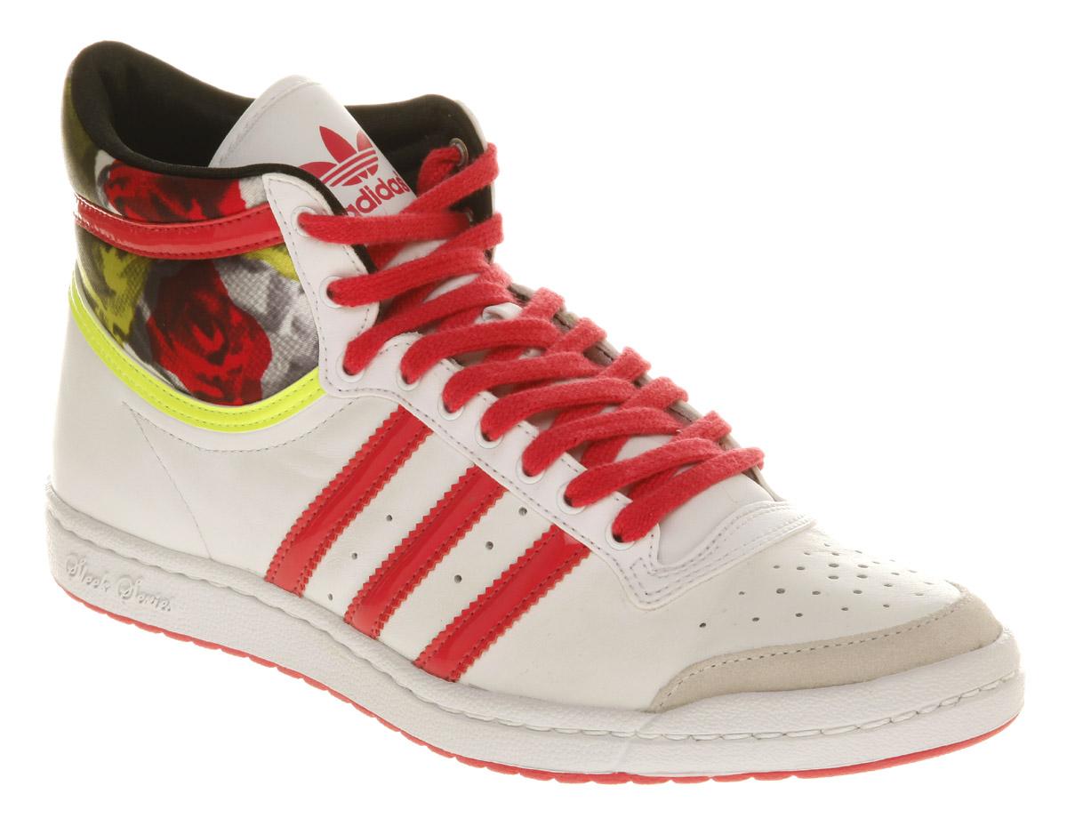 adidas top ten hi sleek white pink elec trainers shoes ebay. Black Bedroom Furniture Sets. Home Design Ideas