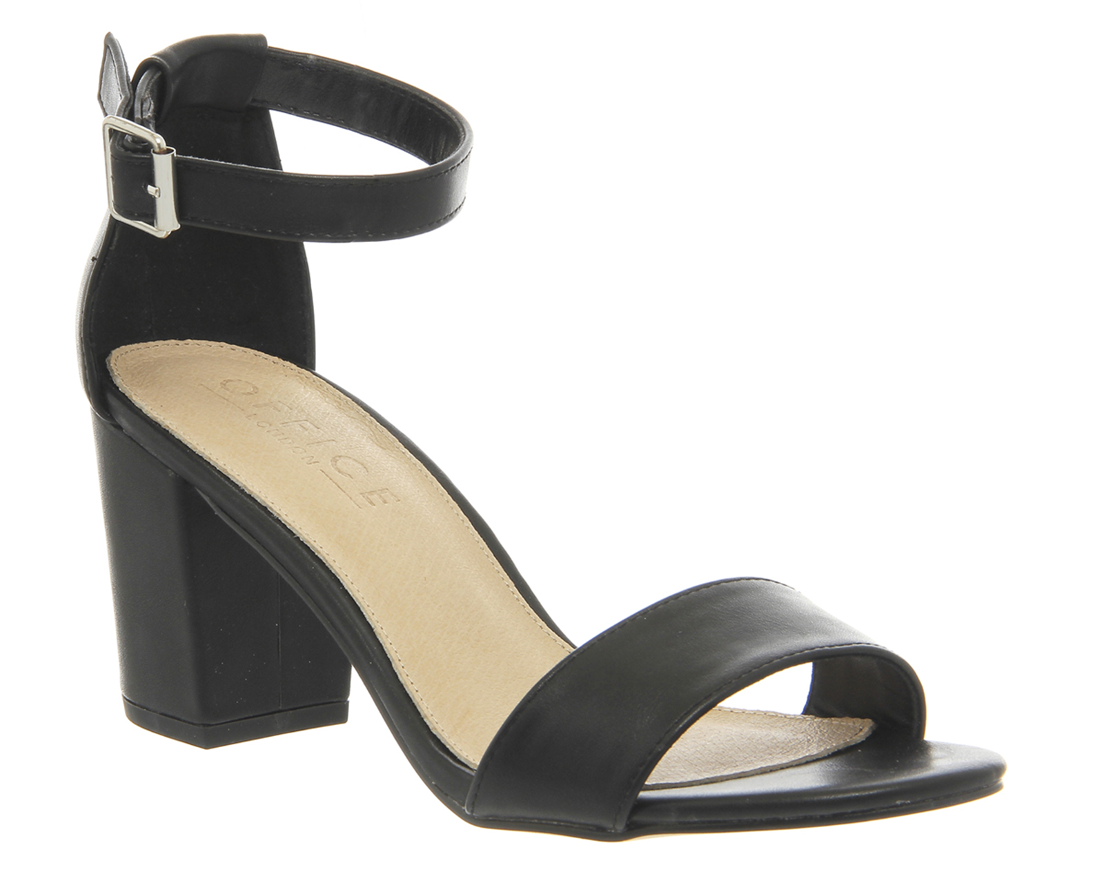 Black sandals ebay uk - Womens Office Watermelon Buckle Block Heel Sandal Black