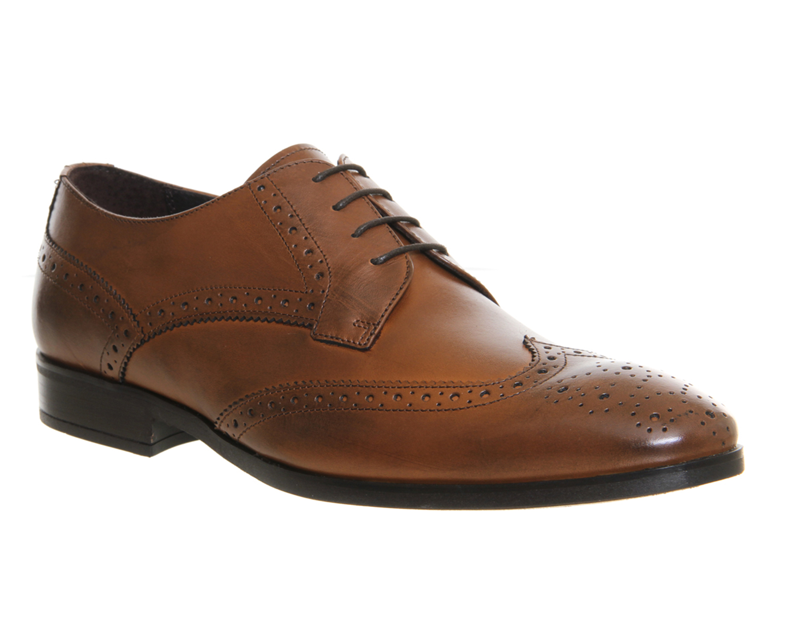 Mens Ask the Missus Bebop Brogue TAN LEATHER Formal Shoes ...