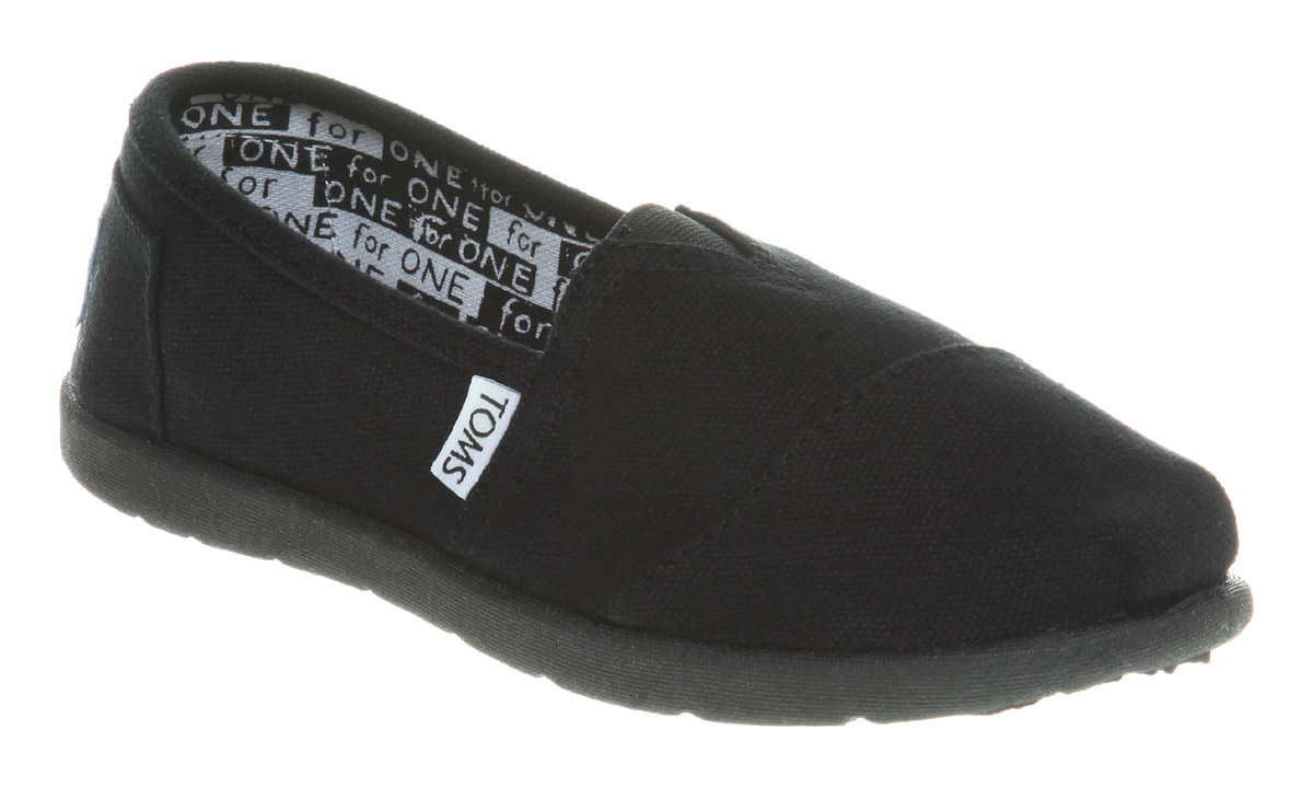 Kids-Toms-Youth-Classics-Black-Canvas
