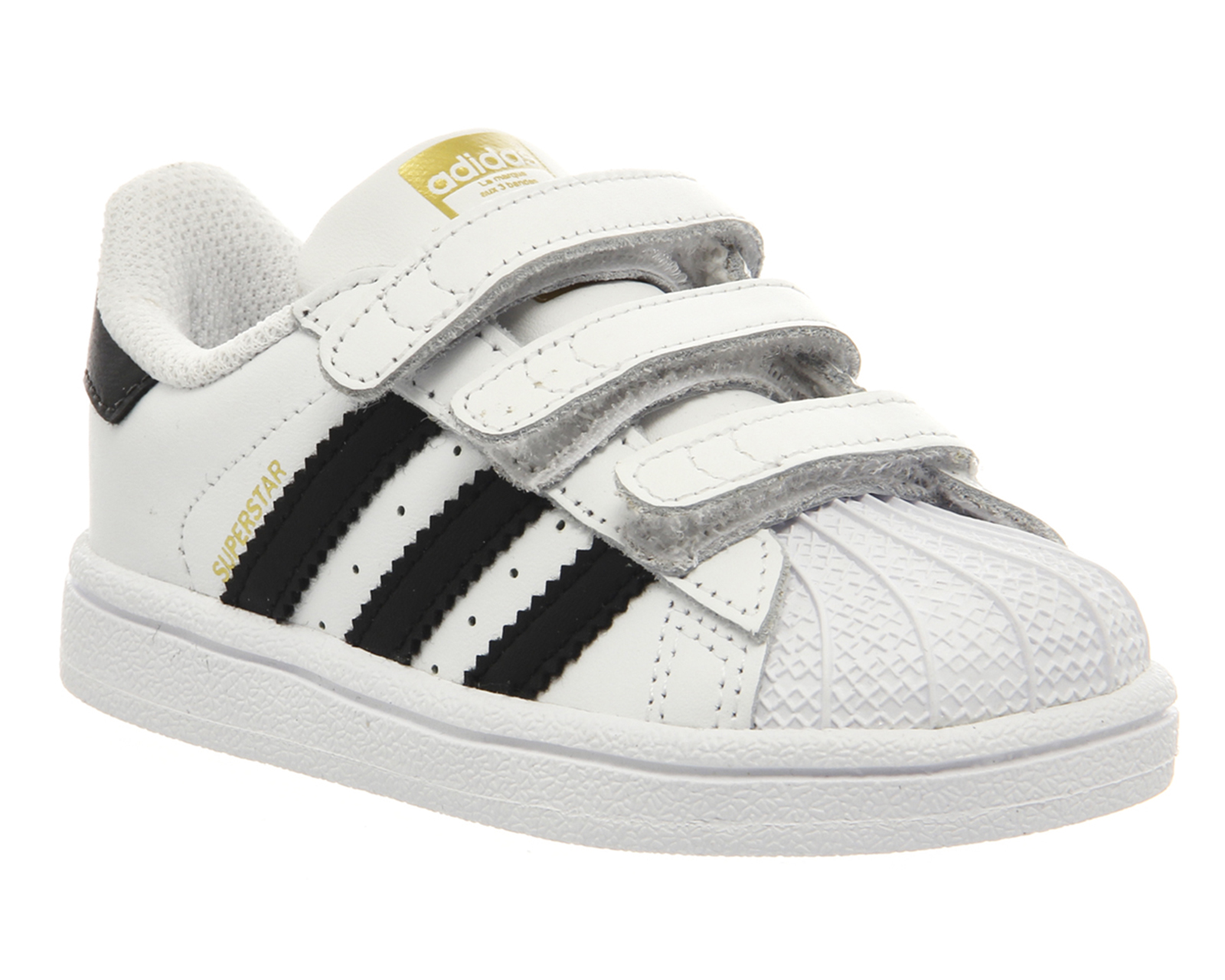 kids adidas superstar infant 2 9 white black white strap kids