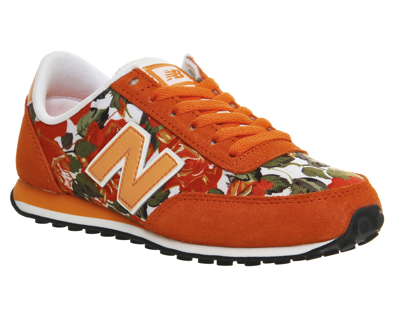 mens new balance 410 orange floral st trainers shoes. Black Bedroom Furniture Sets. Home Design Ideas