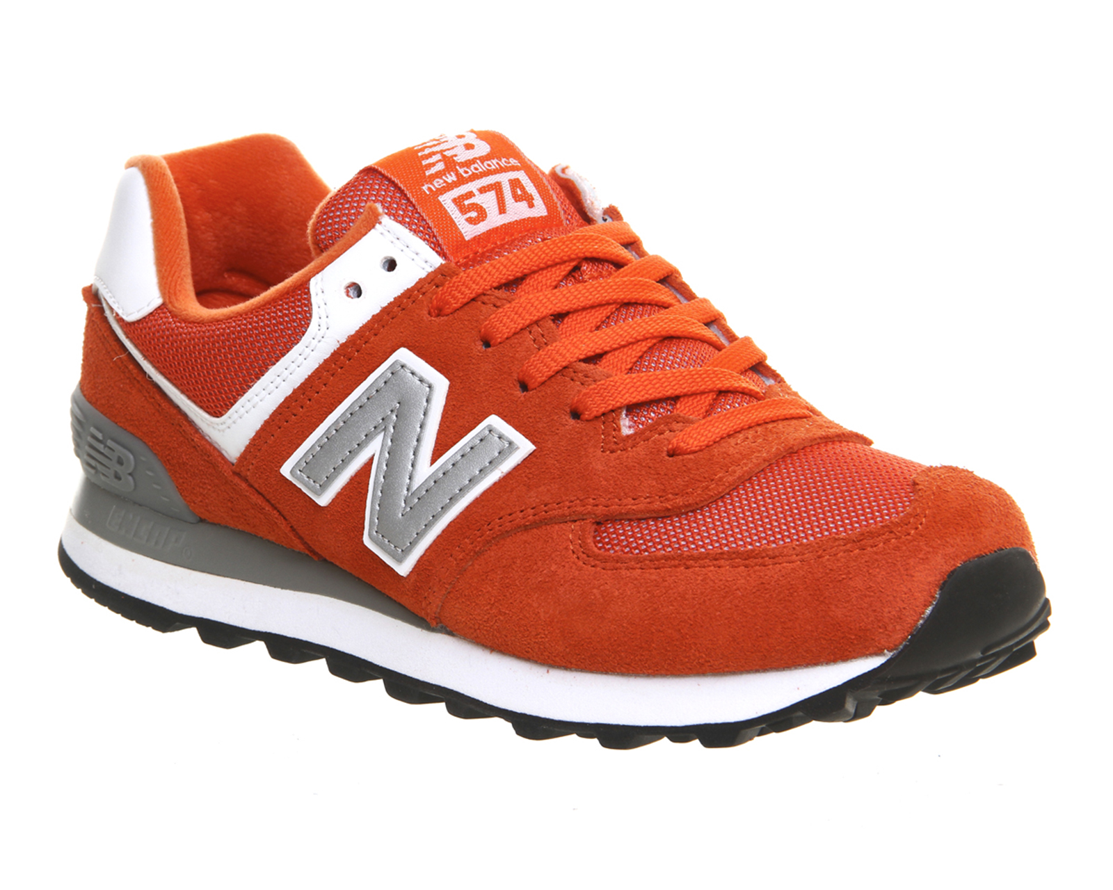 mens new balance m574 coral st trainers shoes. Black Bedroom Furniture Sets. Home Design Ideas