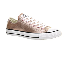 converse rose gold low