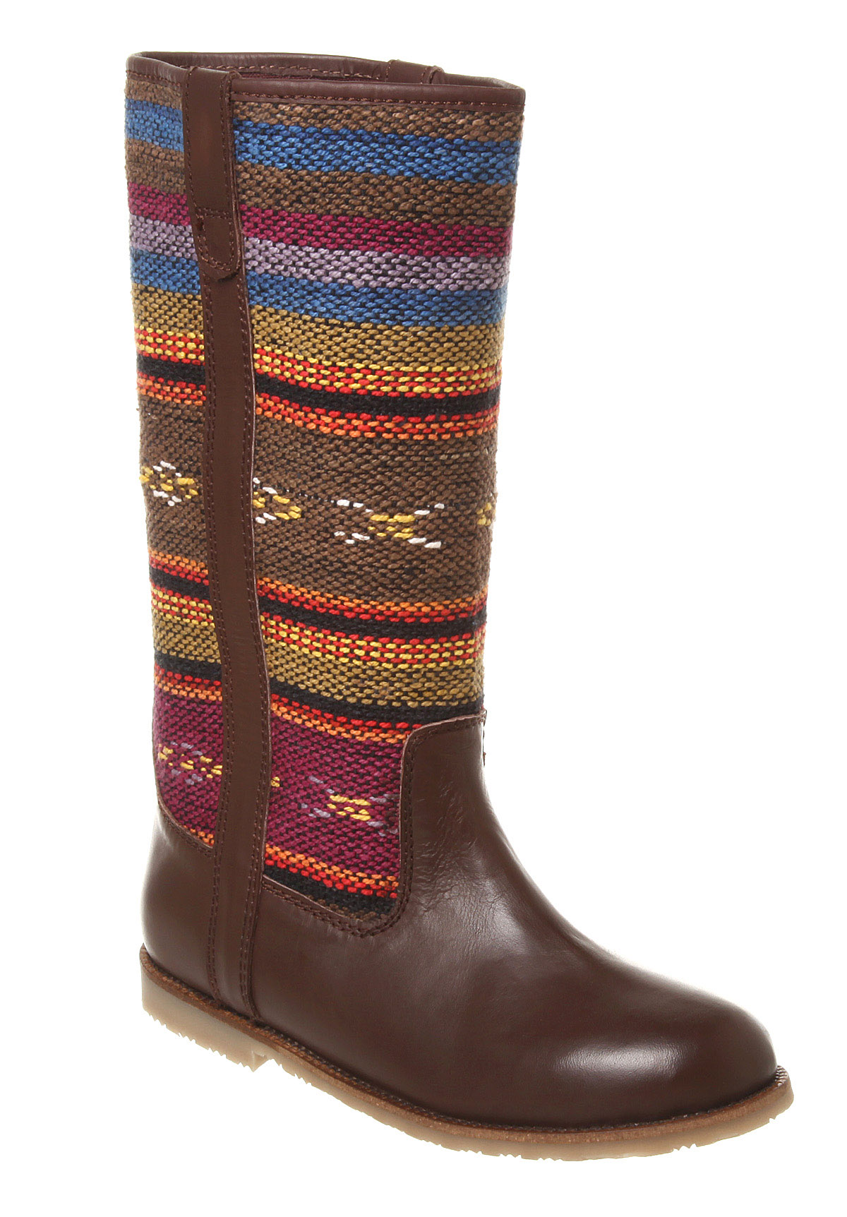office cavern tapestry brown leather tapestry boots ebay