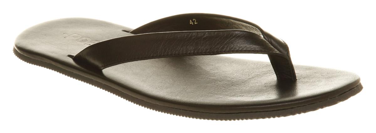 c428975cc2f2 Image is loading Mens-Office-Massa-Toepost-Black-Leather-Sandals