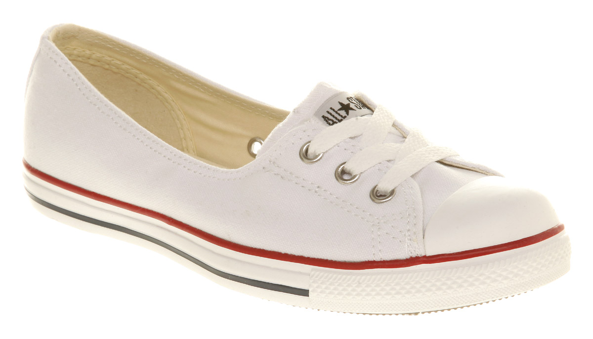 Image is loading Womens-Converse-Dance-Lace-Optical-White-Trainers-Shoes