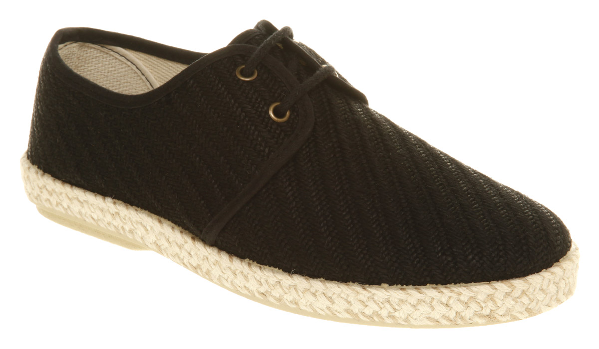 Mens-Ask-The-Missus-Tokyo-Espadrille-Black-Shoes