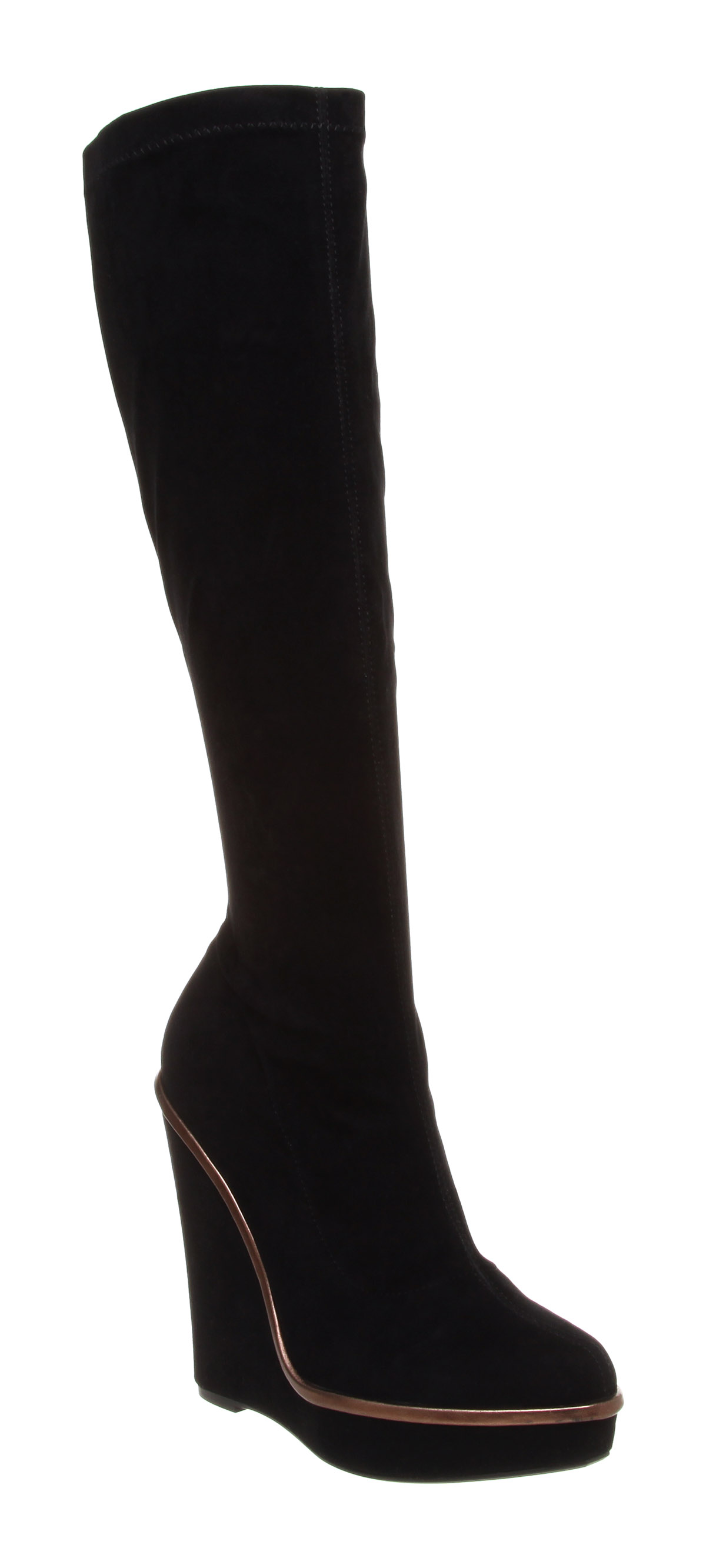 9f4228bf524 Идет загрузка изображения Office-Celeste-Stretch-Wedge-Boots-Black-Stretch- Boots-