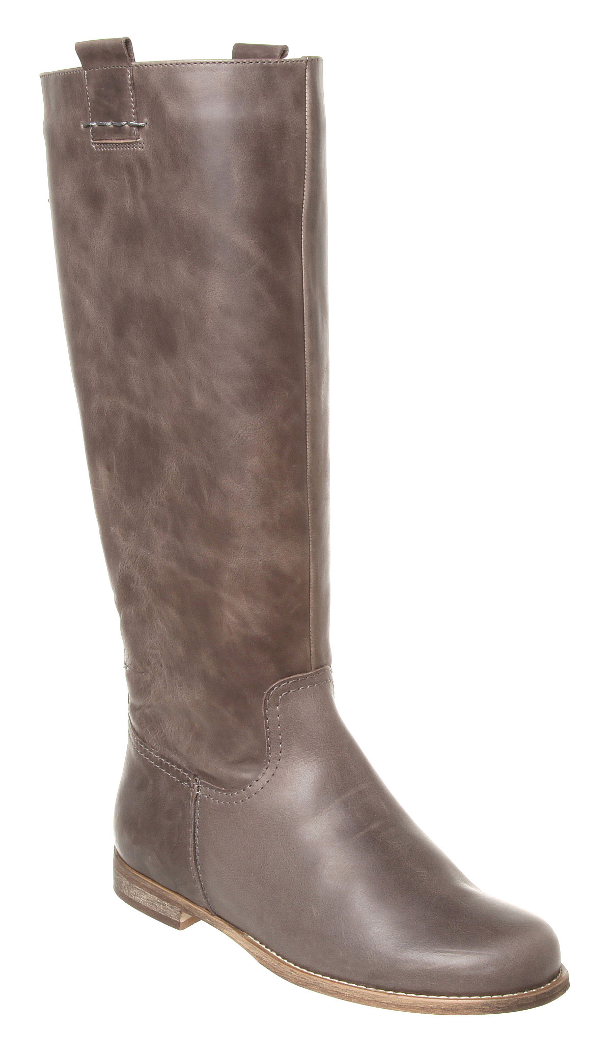 womens office course pull on boot grey leather boots ex