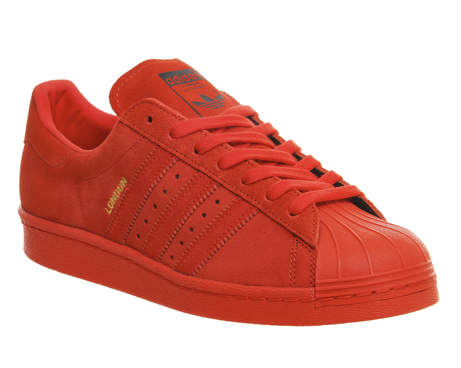 red adidas shoes superstar