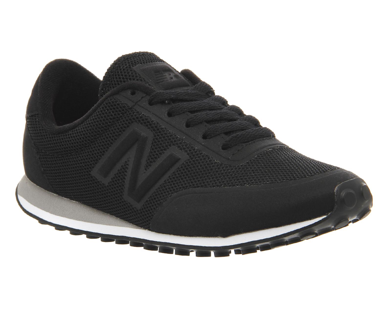 mens new balance 410 microfibre mesh black trainers shoes. Black Bedroom Furniture Sets. Home Design Ideas