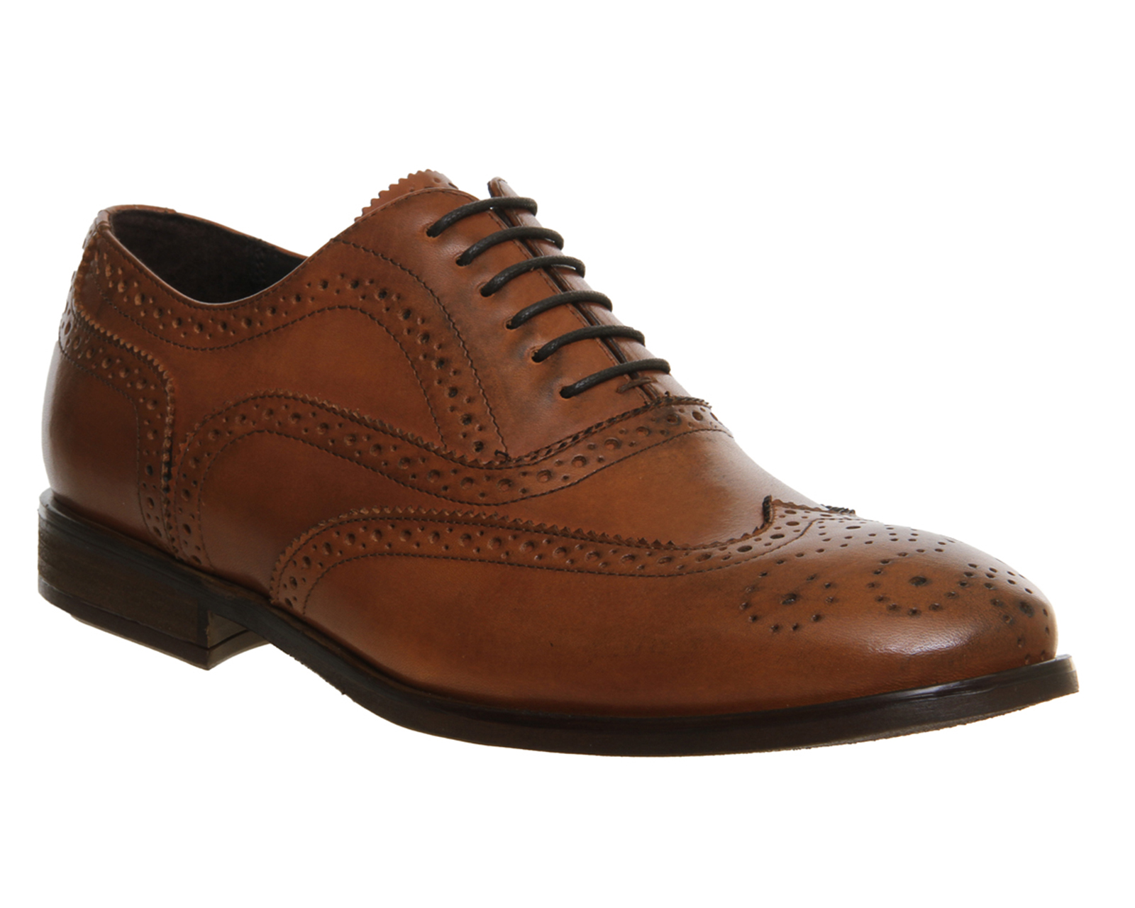 Mens Ask the Missus Brooklyn Brogues TAN LEATHER Formal Shoes