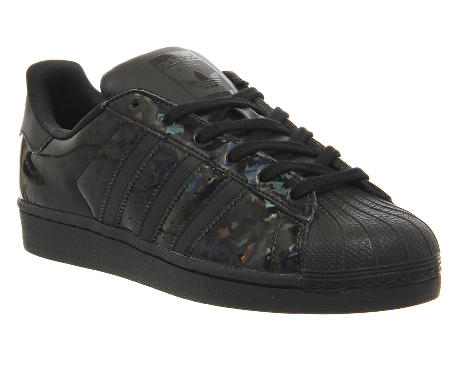 mens adidas superstar 2 holographic black w trainers shoes