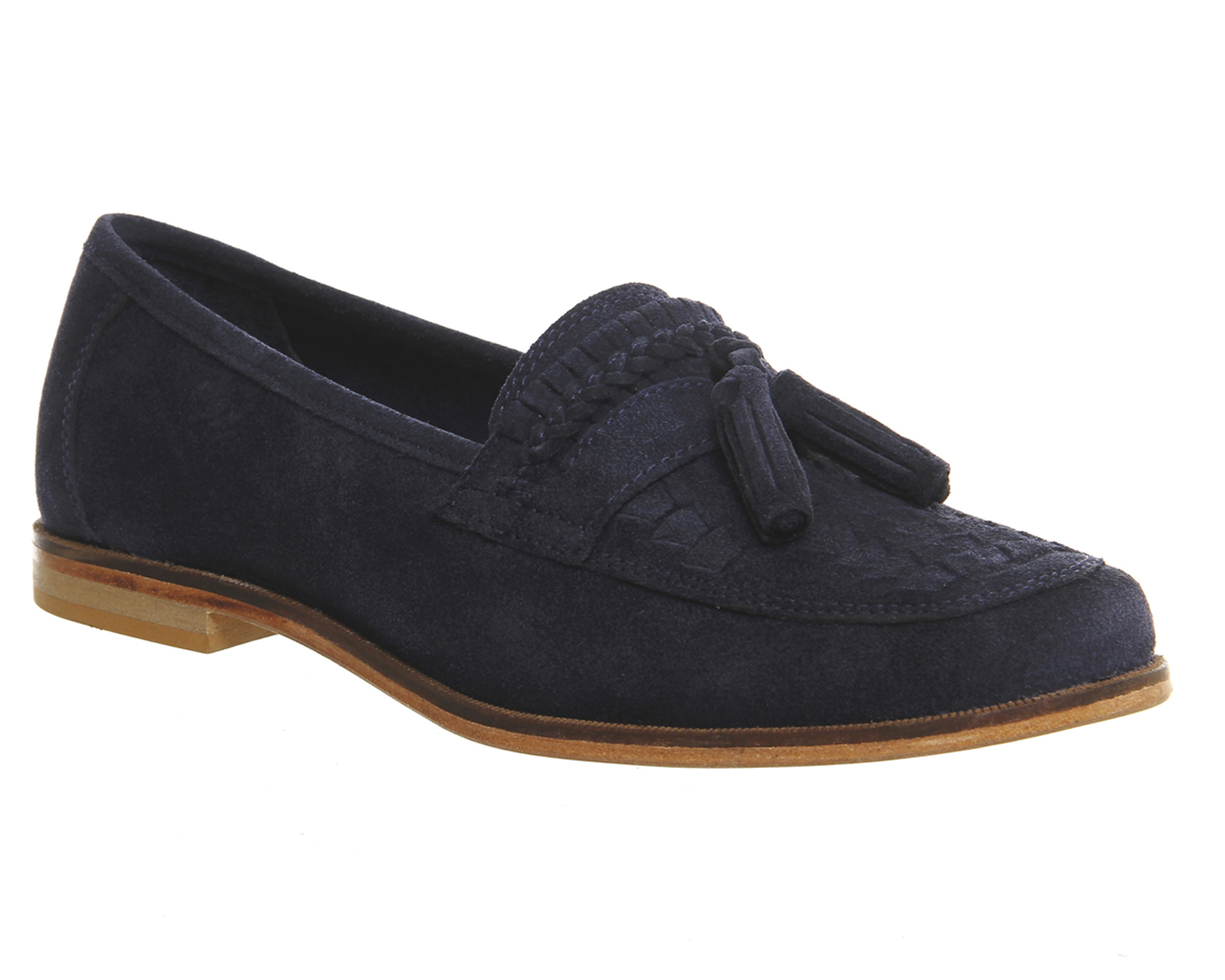 Mens Office Bank Tassel Loafers NAVY SUEDE Casual Shoes