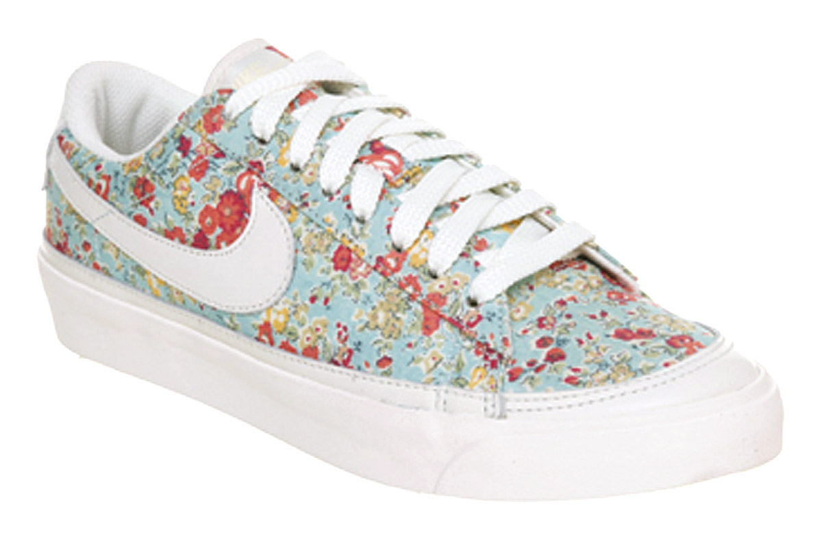 womens floral nike blazer low liberty print blouse
