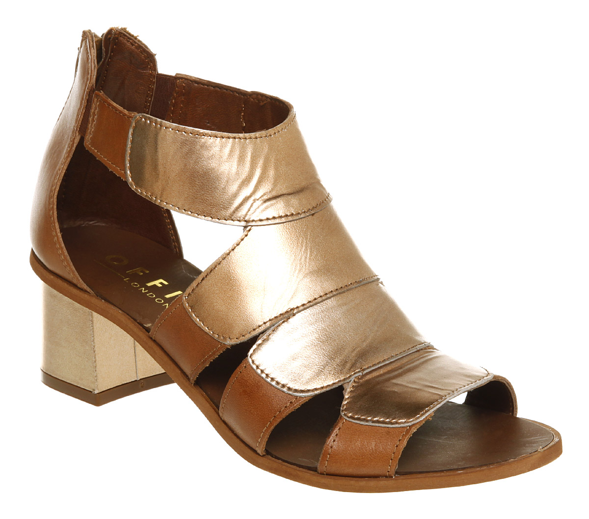 Womens-Office-How-Now-Sandal-Tan-gold-Lthr-Heels