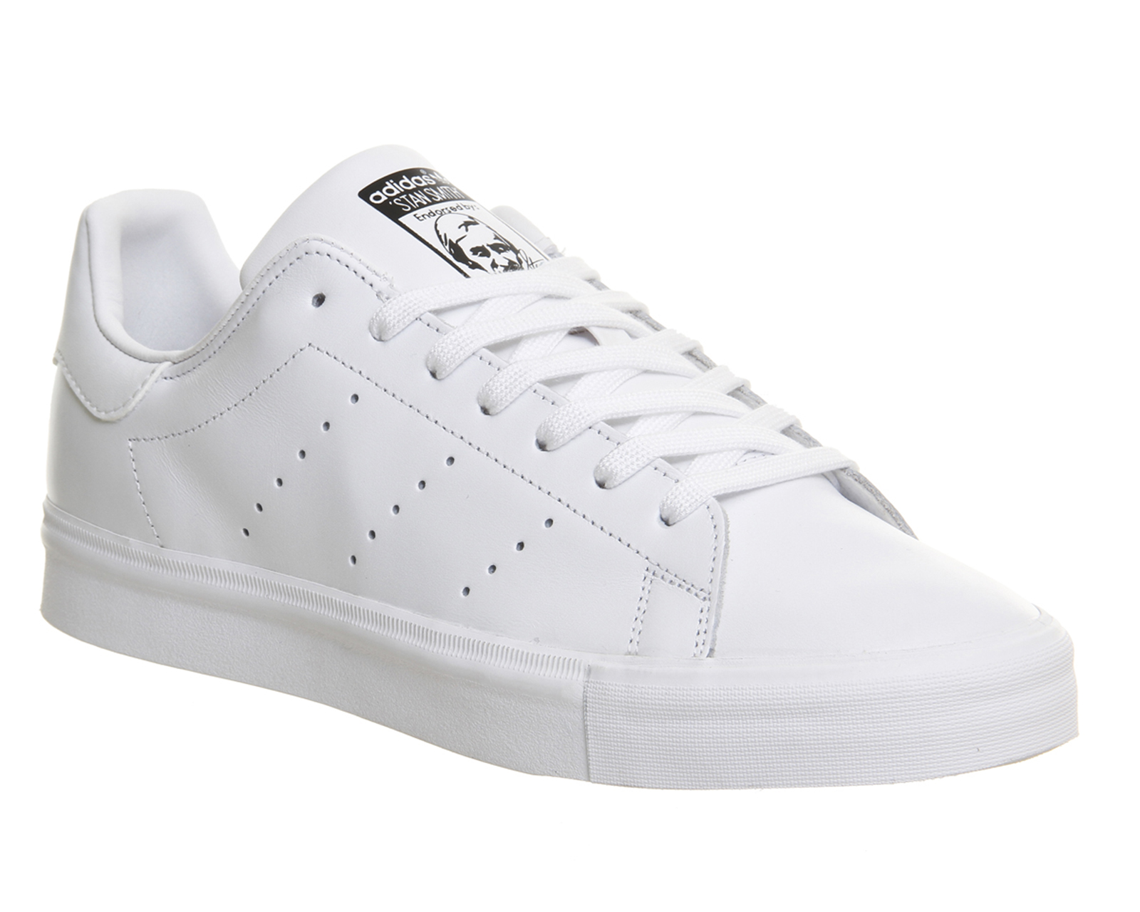 Mens-Adidas-Stan-Smith-Vulc-WHITE-MONO-Trainers-
