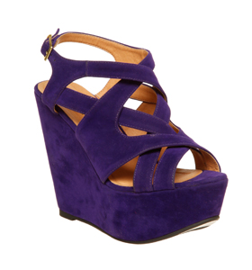 Womens Office Wind Up Wedge Purple Microfbr Heels | eBay