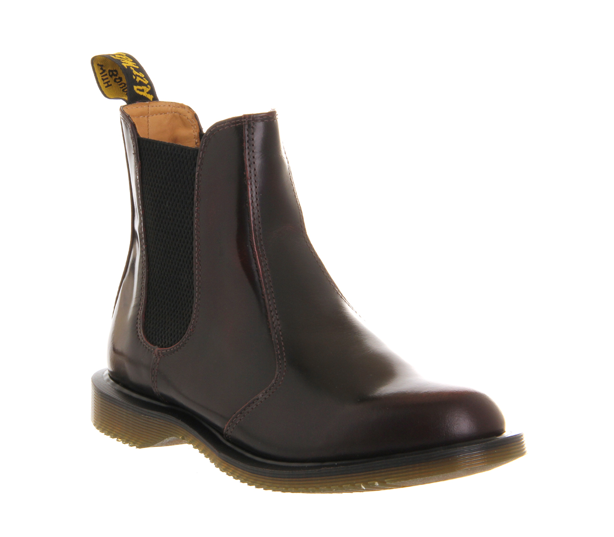 womens dr martens kensington flora boots burgundy leather