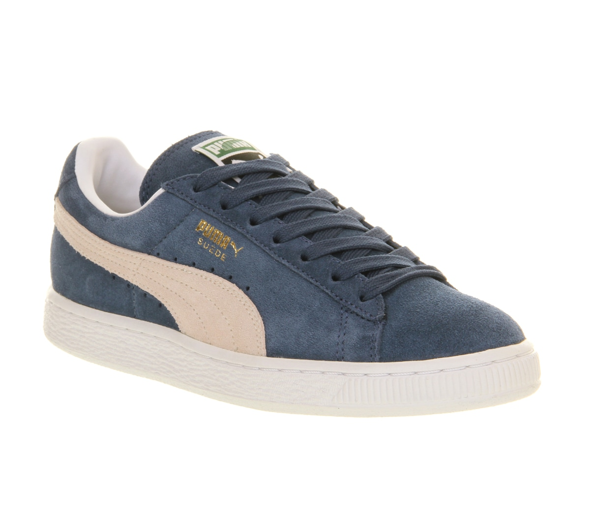 puma suede grey blue red