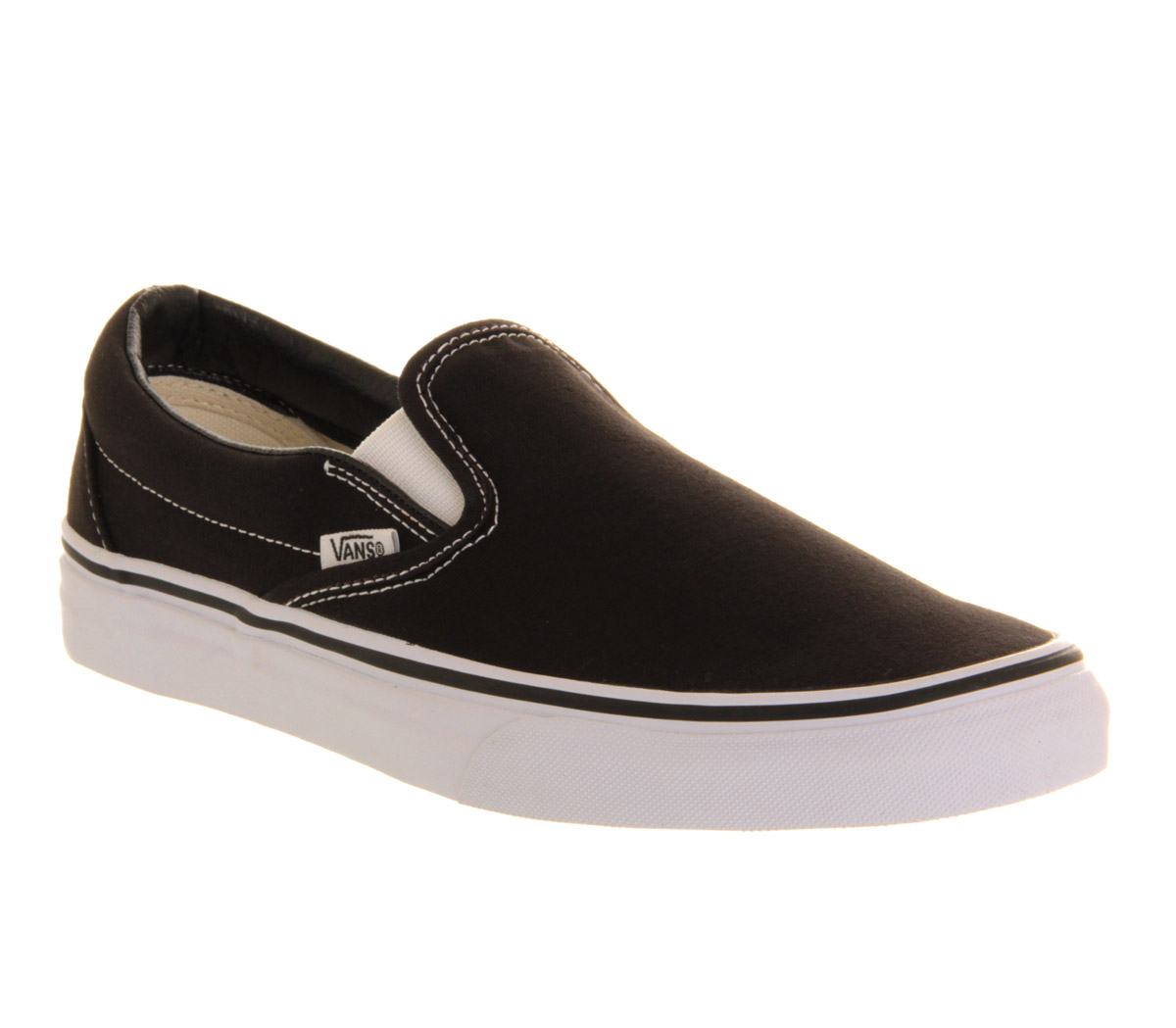 vans classic slip on black mens trainers