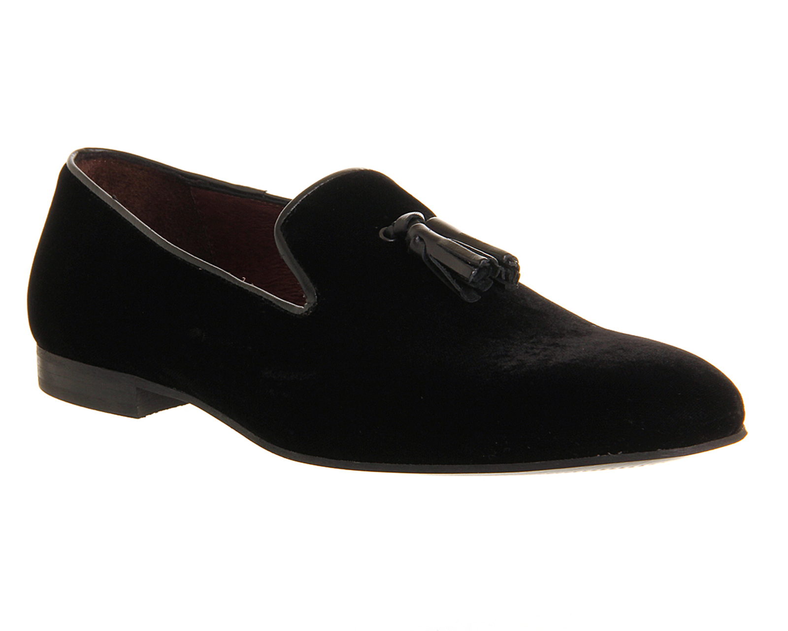 mens poste aristocrat loafers black velvet formal shoes ebay