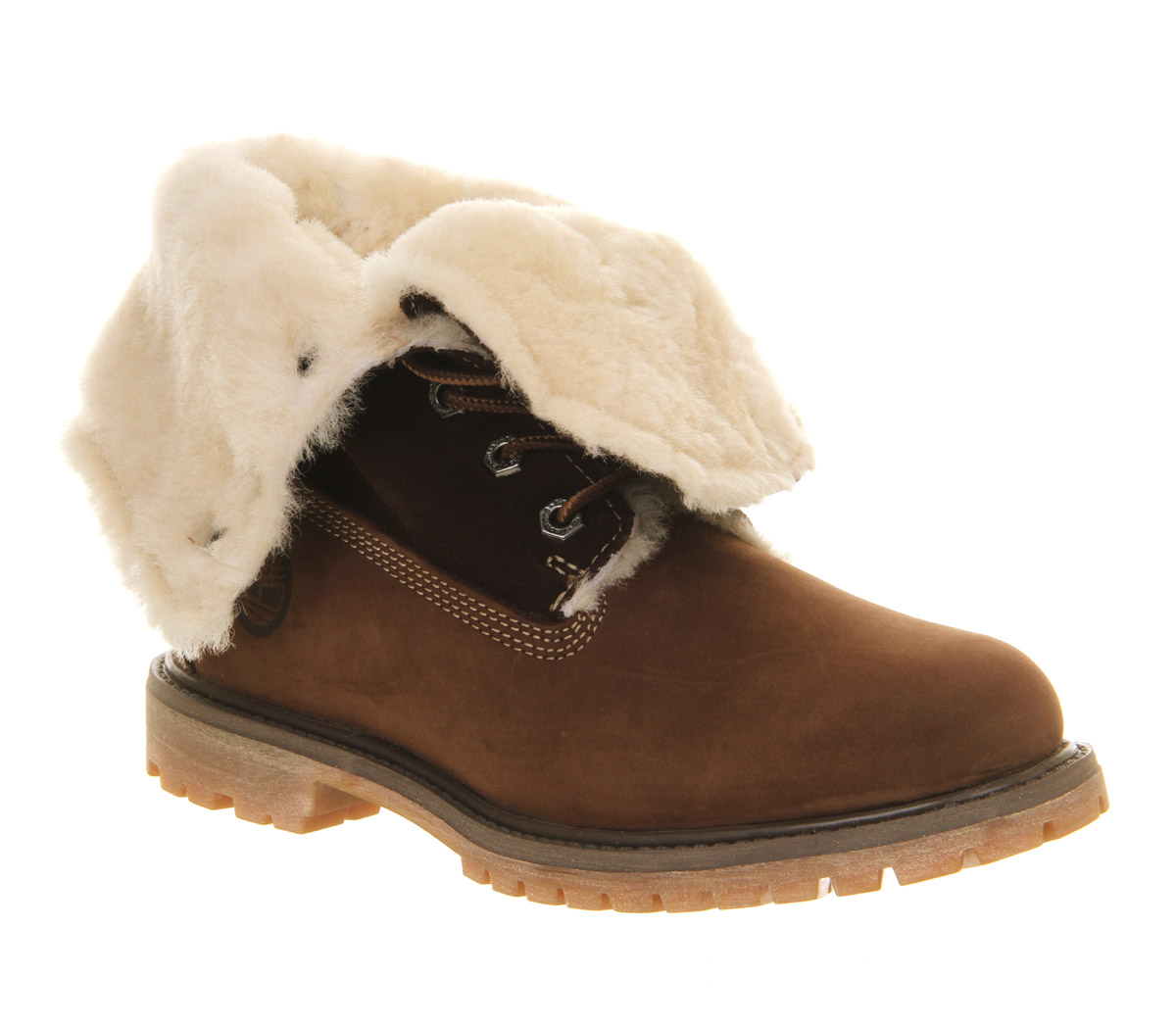Para-Mujer-Timberland-AUTHENTIC-Shearling-FOLD-DOWN-BOOTS-