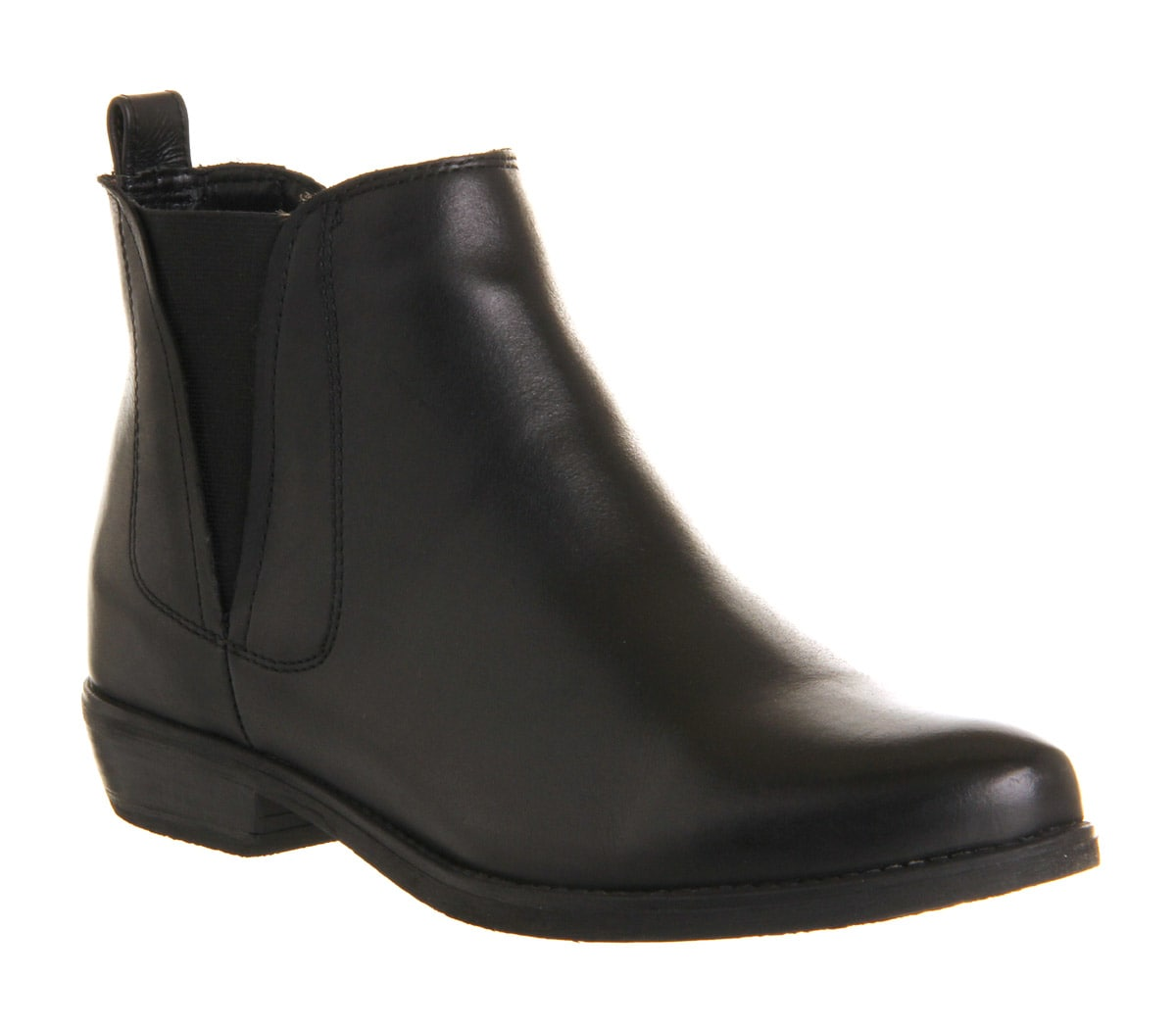 womens office crosby chelsea black leather ankle boots ex