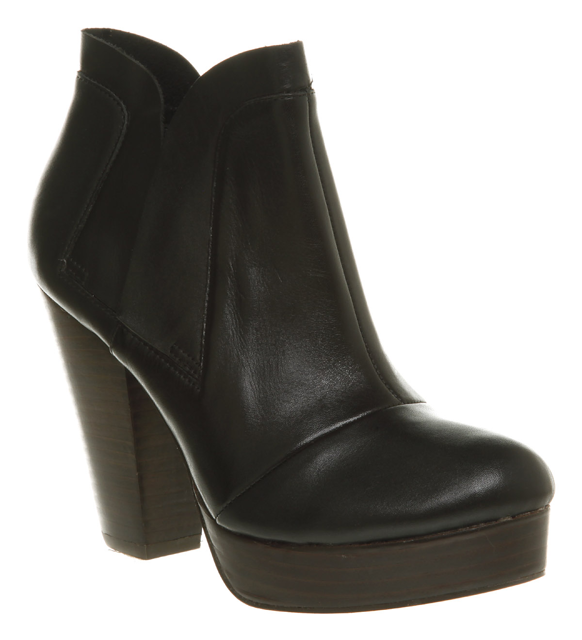 womens office novice chelsea boot black leather boots ebay
