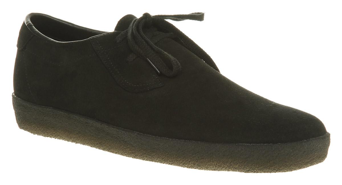Mens Clarks Ashcott Black Suede Casual Shoes Ebay