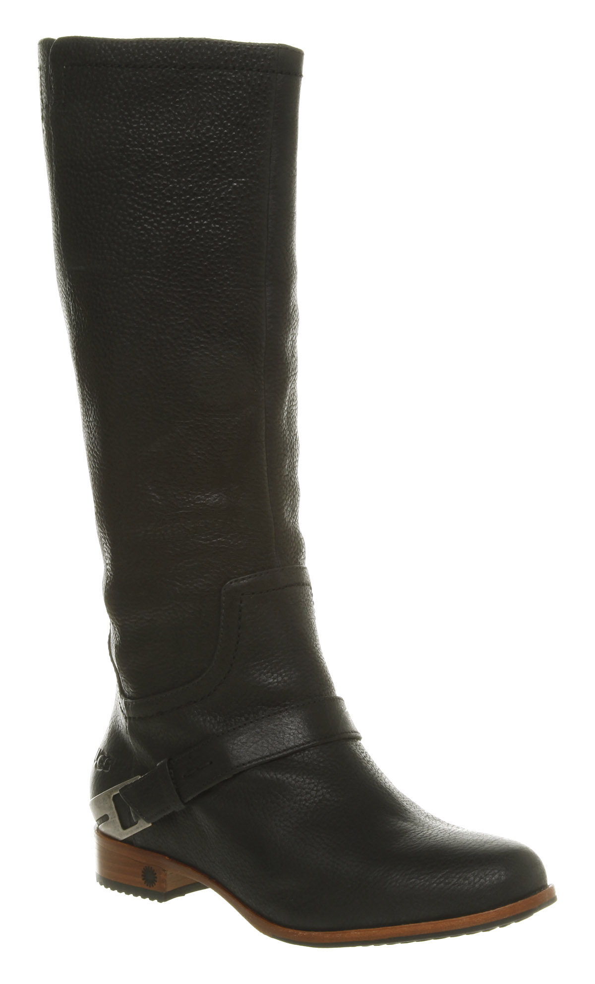 womens ugg australia channing knee black leather boots ebay