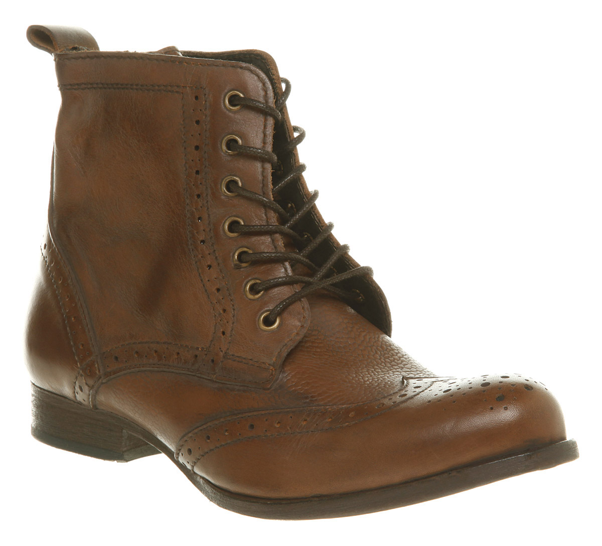 womens hudson sherwin brogue ankle leather boots ebay
