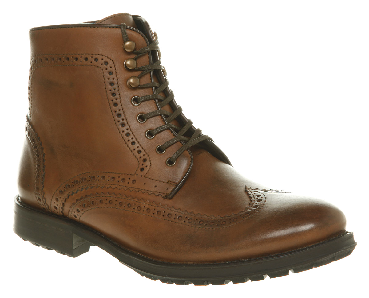 mens h by hudson hughes brogue boot leather boots ebay
