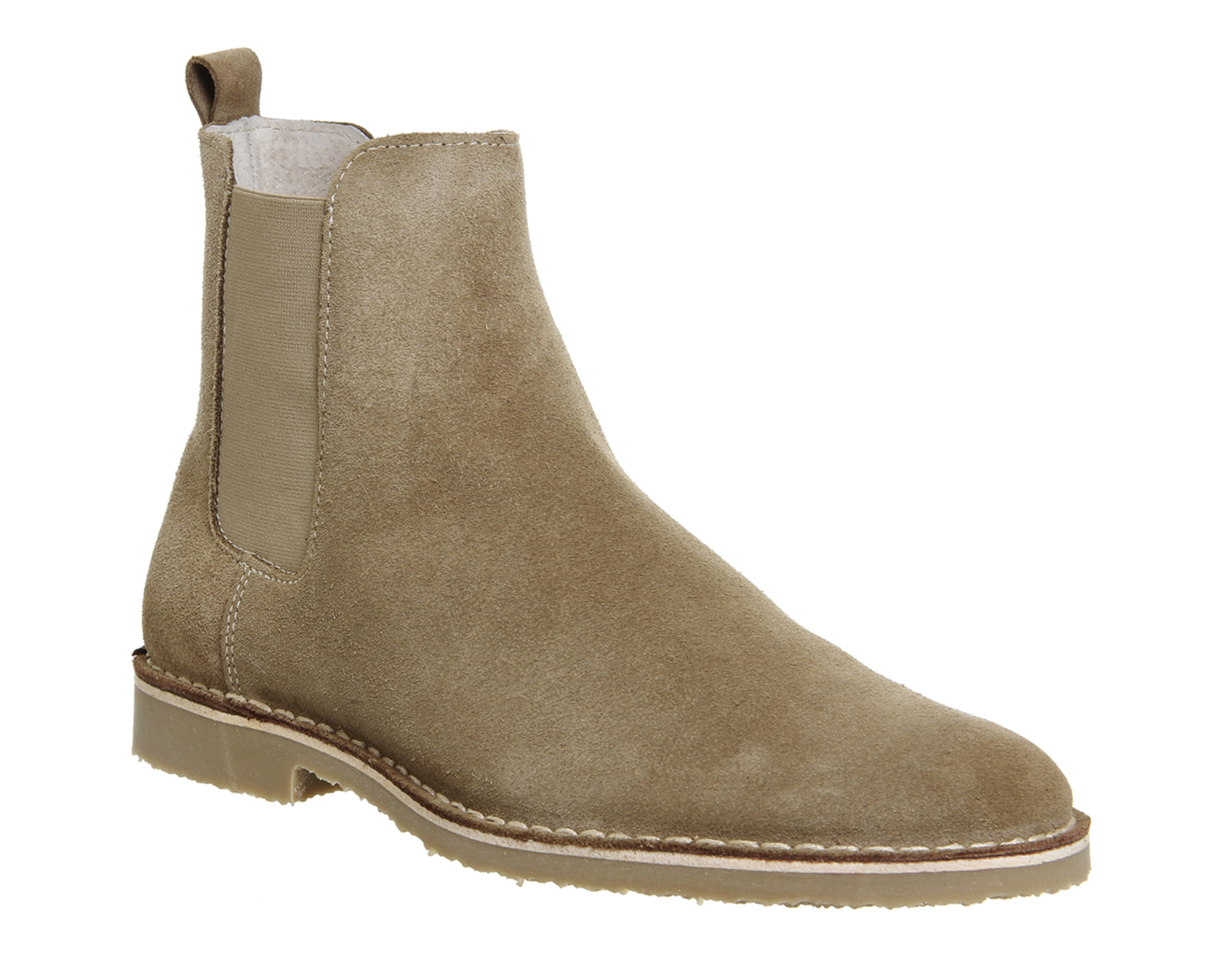 mens ask the missus danish chelsea boots beige suede boots ebay. Black Bedroom Furniture Sets. Home Design Ideas