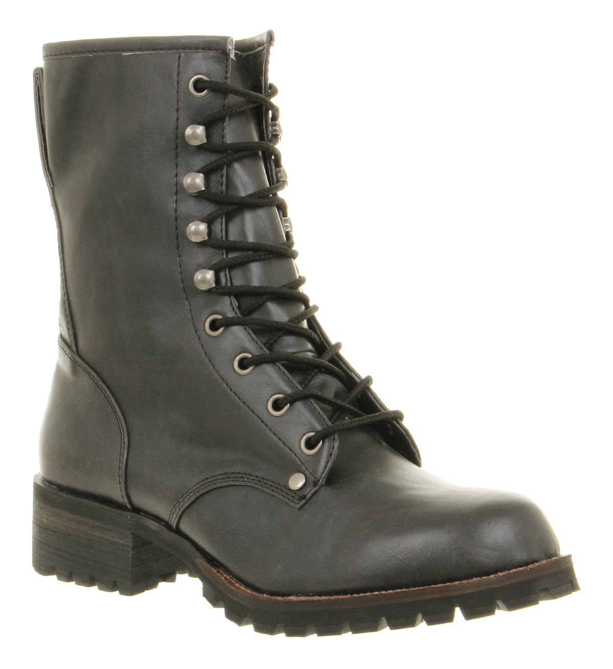 Womens-Office-Nick-Logger-Ankle-Boot-Black-Pu-Boots