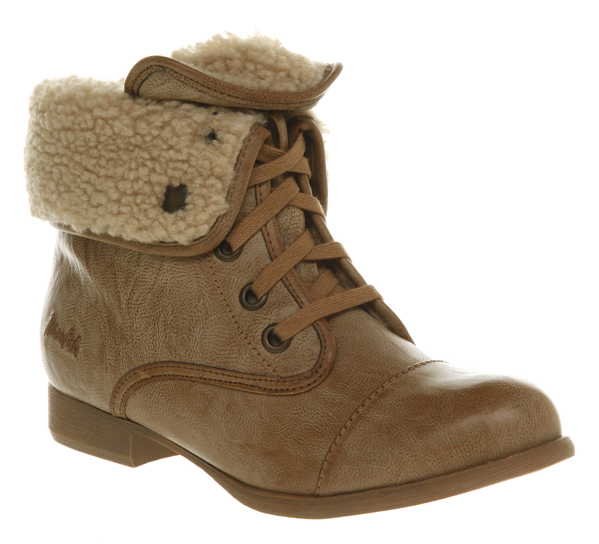 Womens blowfish jack fleece work boot tan pu boots ebay for Blow fish shoes