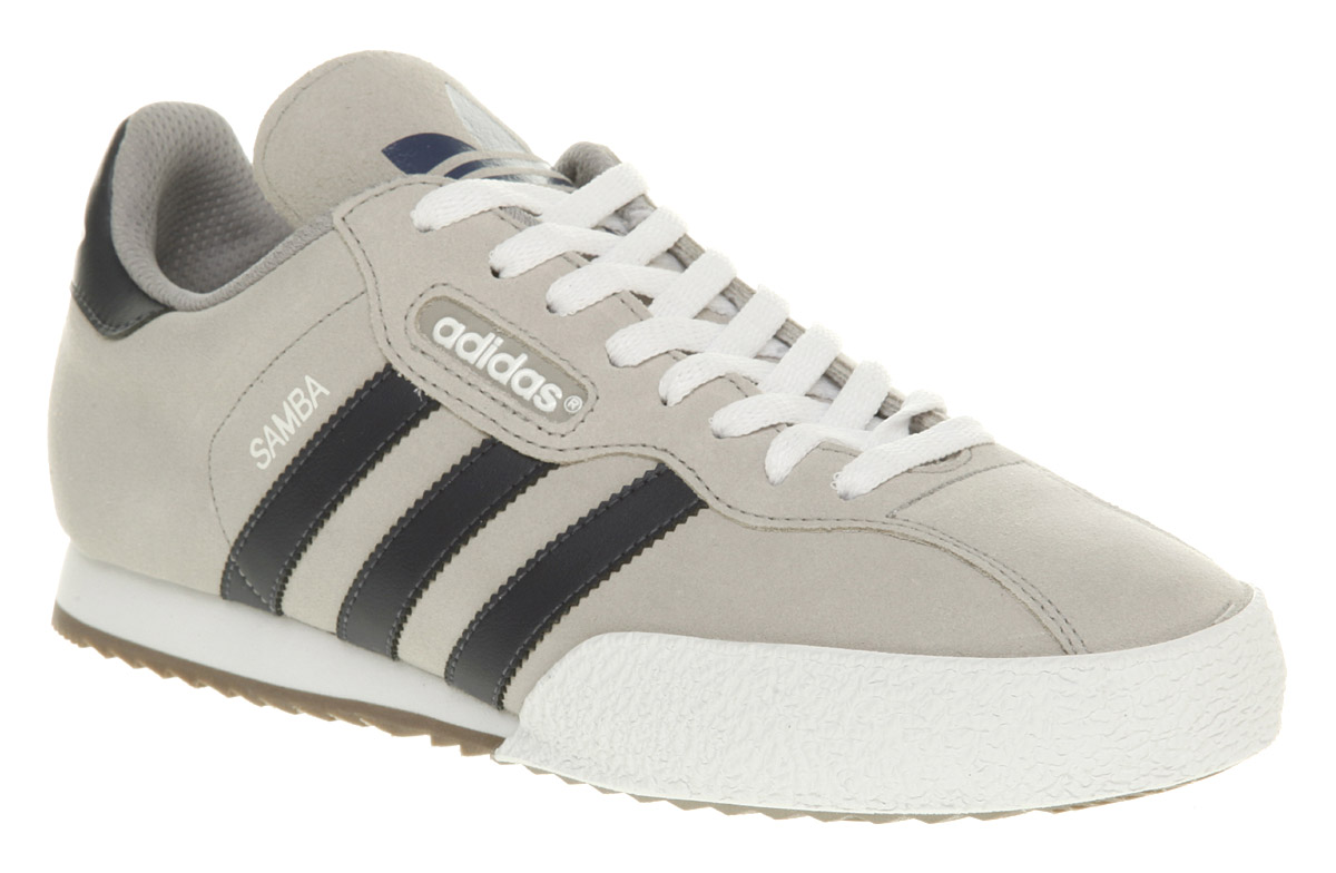 Mens Adidas Samba Super Black Suede Trainers Shoes