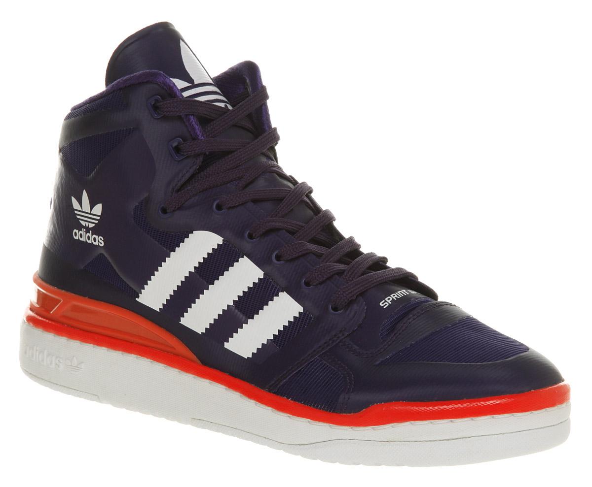 more photos 65023 c046c Идет загрузка изображения Mens-Adidas-Forum-Mid-Lite-Purple-Shoe-Trainers-