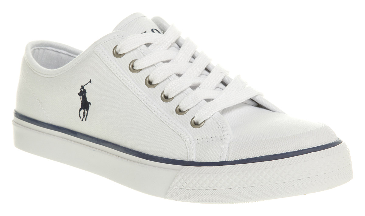 Mens-Ralph-Lauren-Chancery-White-Shoe-Trainers-Shoes