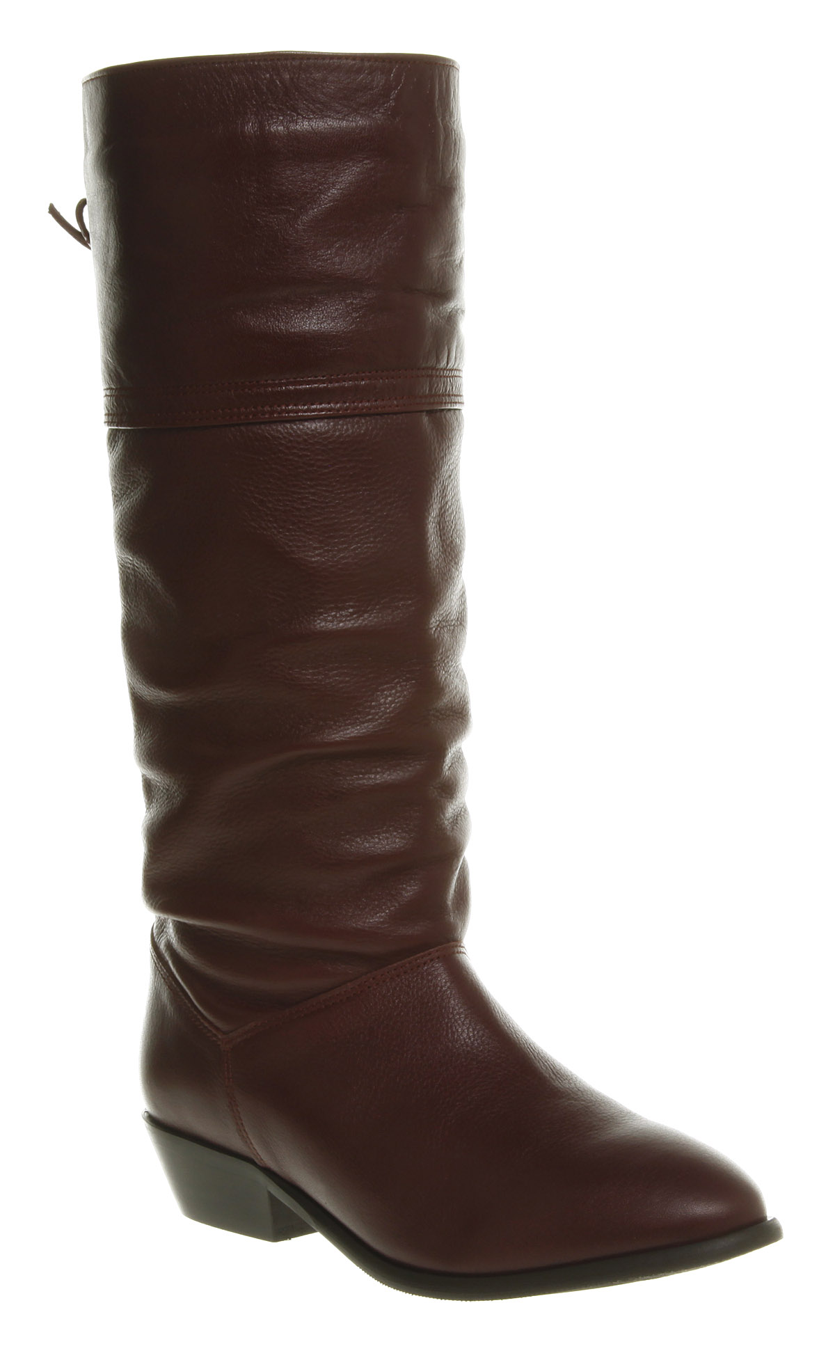 womens office jani slouch boot burgundy leather boots ebay