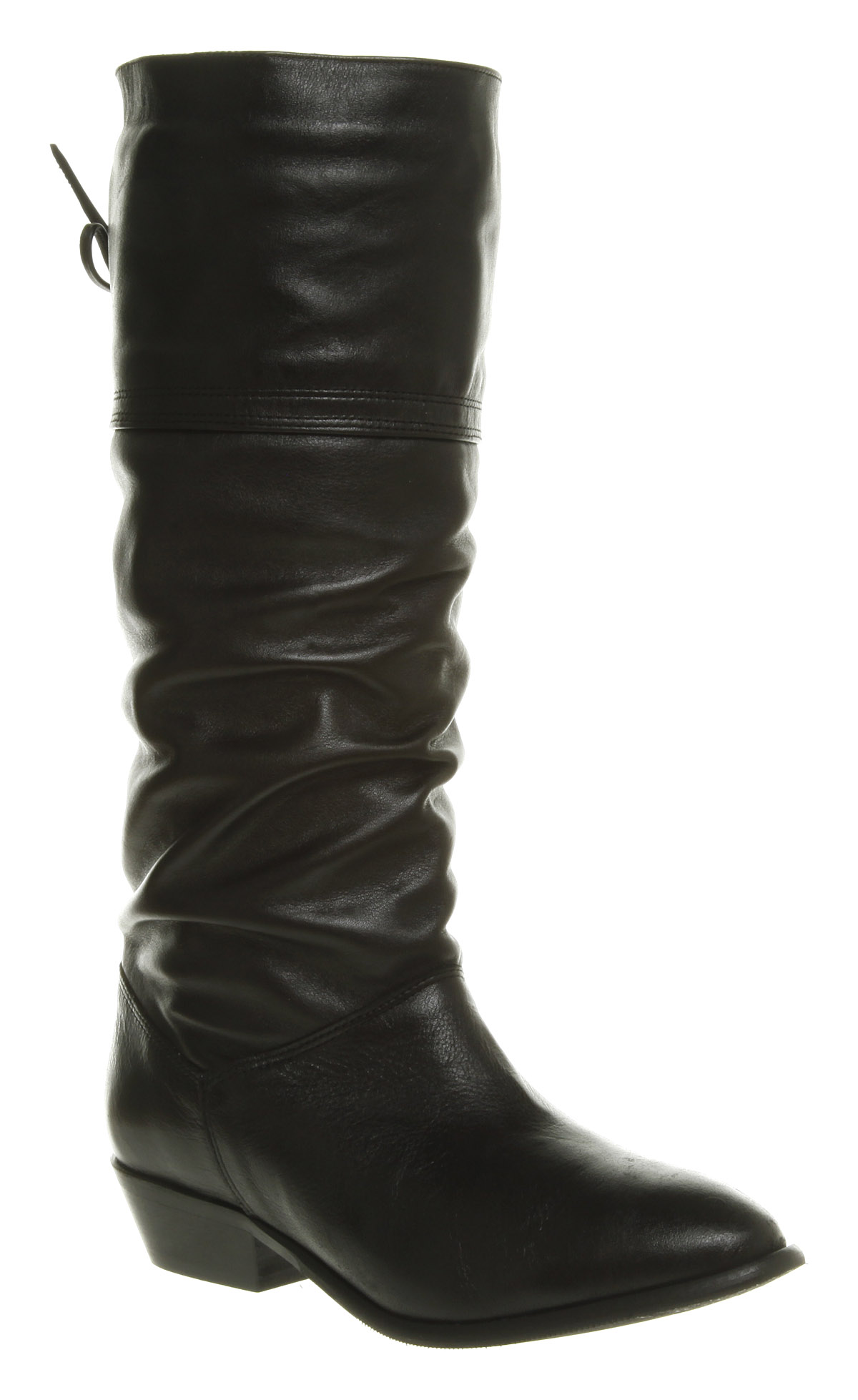 Womens Office Jani Slouch Boot Black Leather Boots | eBay