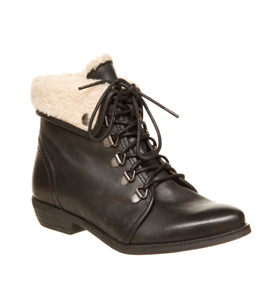 Womens Office Nice One Black Boot Leather Boots Shoes | eBay