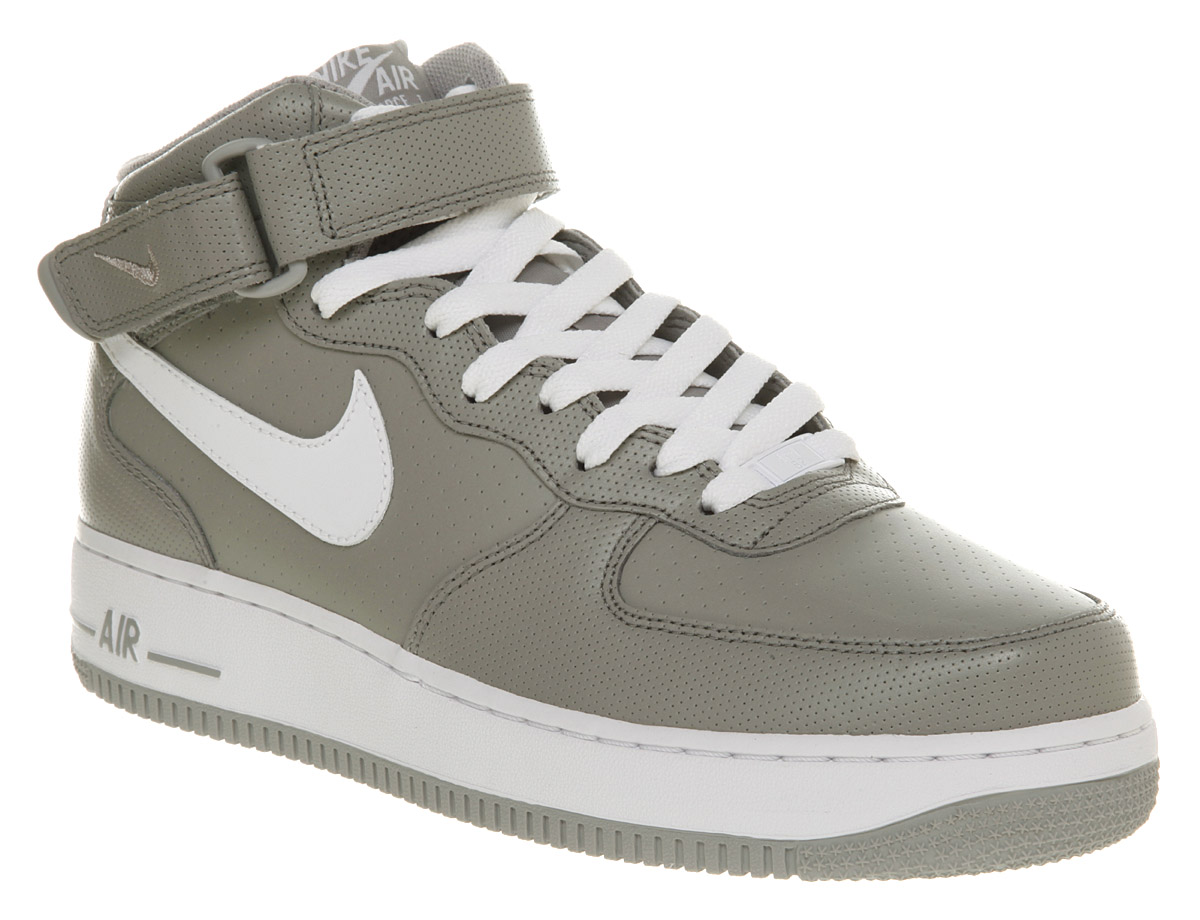 new style 30af1 17248 ... cheap image is loading mens nike air force 1 mid grey white 71765 17cf8