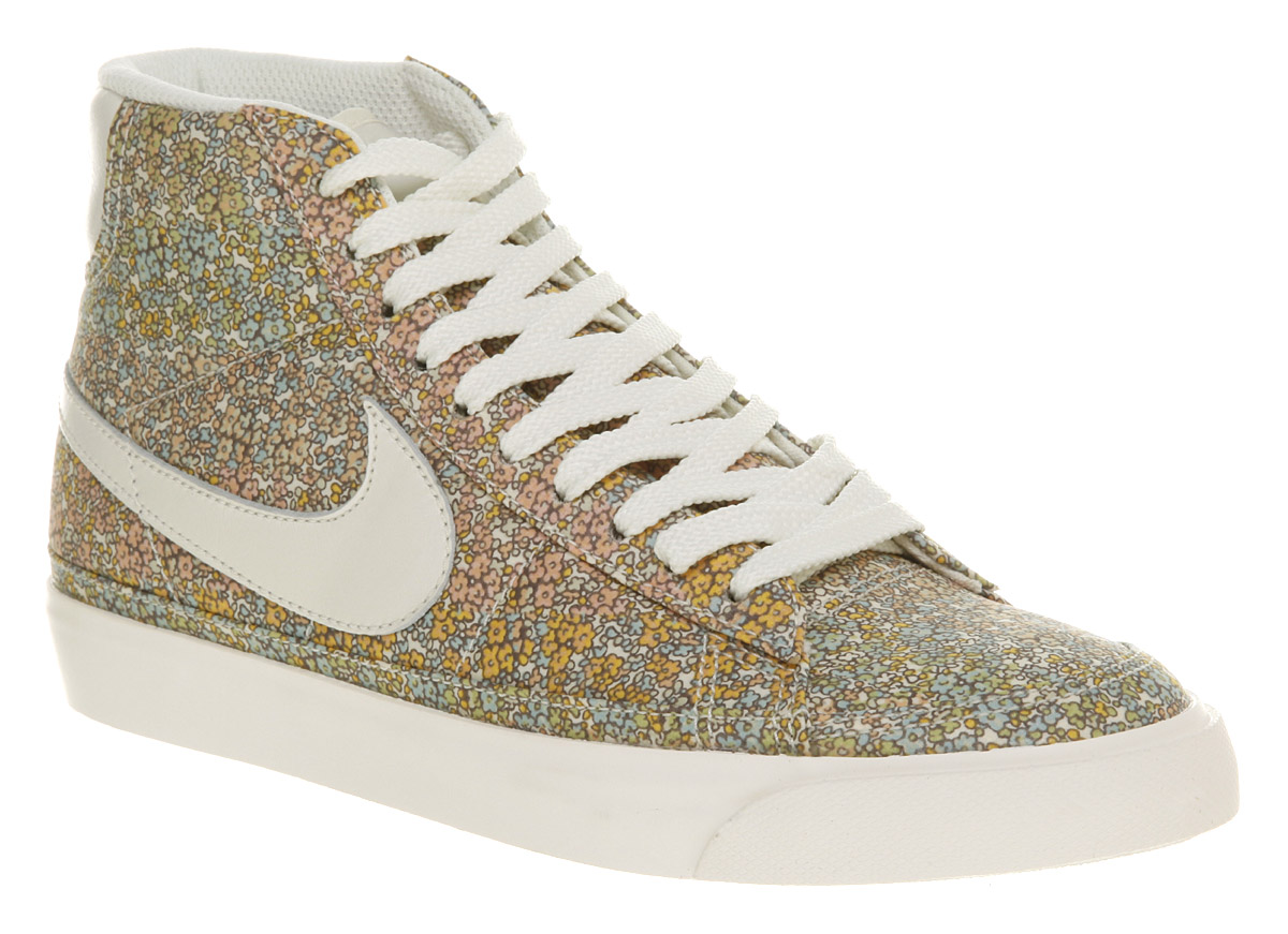 womens nike womens blazer floral shoe trainers shoes ebay