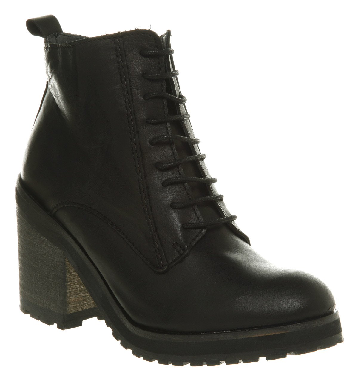 Womens-Office-Nuff-Said-Black-Boot-Leather-Boots-Shoes