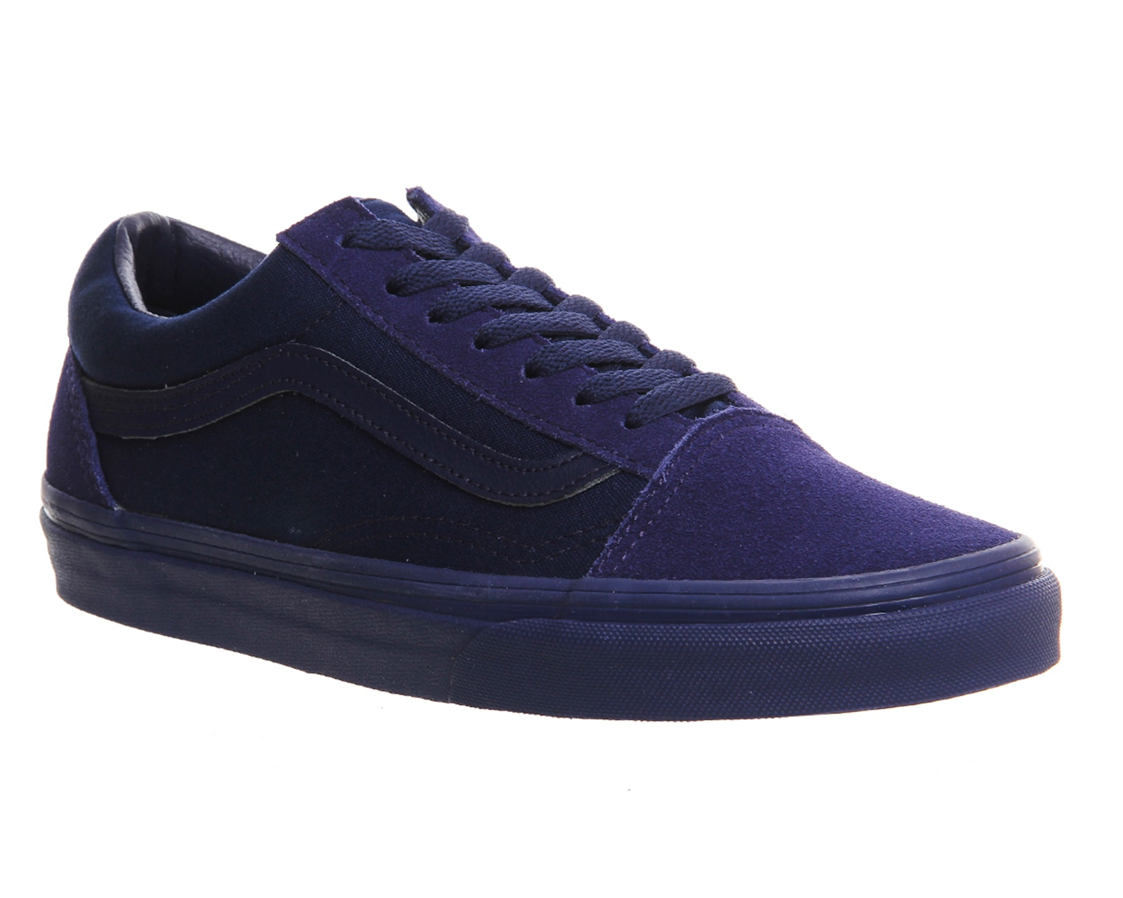mens vans old skool blue depths mono trainers shoes ebay. Black Bedroom Furniture Sets. Home Design Ideas
