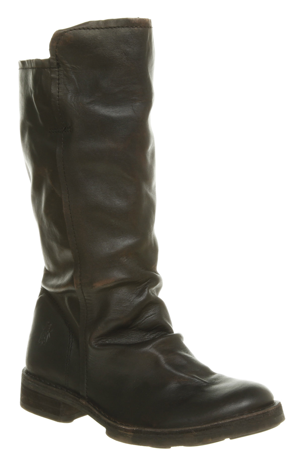 womens fly oboe biker brown leather boots shoes ebay