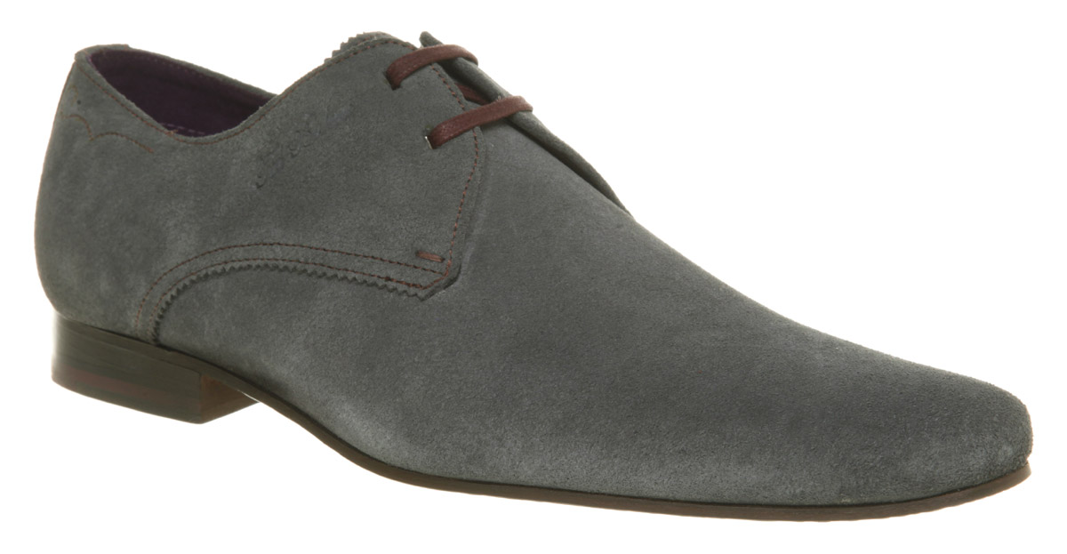 mens ted baker hake lace gibson grey suede formal shoes ebay